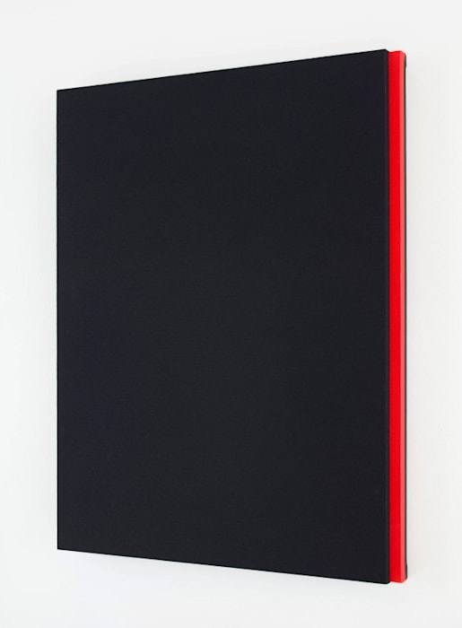 Black Tone, Red Bar by Jennie C. Jones