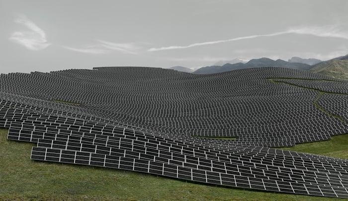 Les Mées by Andreas Gursky