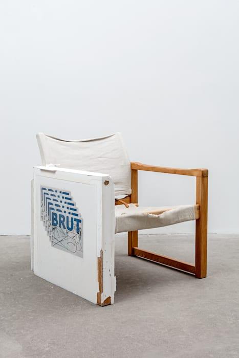 Screen chair (BRUT) by Matias Faldbakken