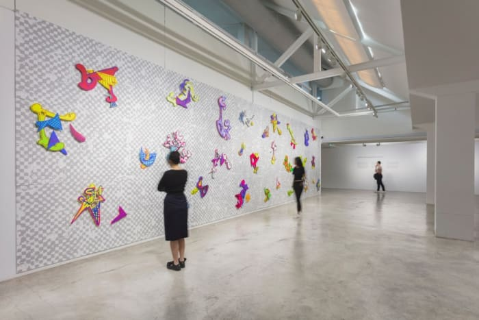 We R 1–24 (installation view) by Aaron Curry