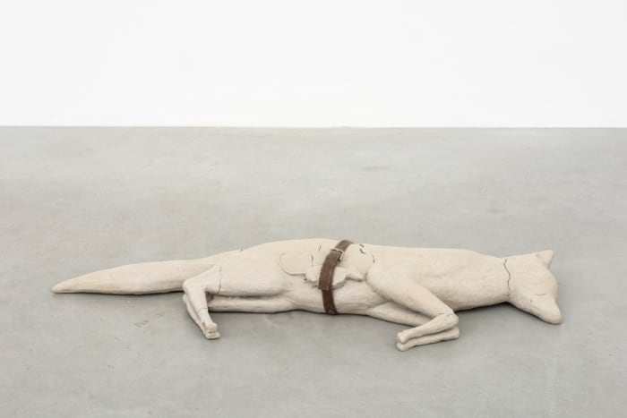Fox / Mouse / Belt (Dry) by Mark Manders