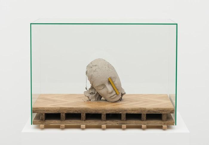 Head on Wooden Floor by Mark Manders
