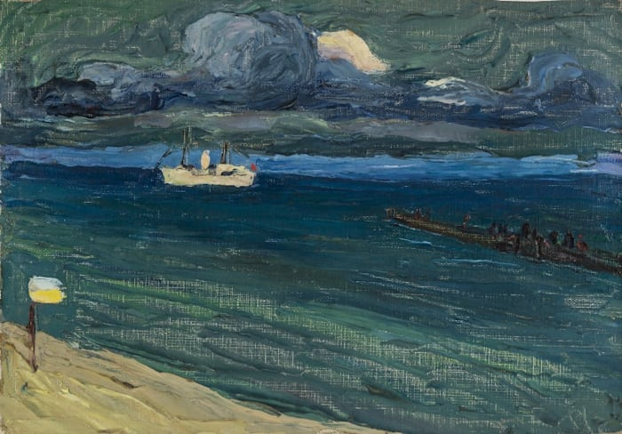 Rapallo -Seascape with Steamer by Wassily Kandinsky