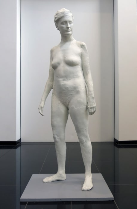 """""""Girl Standing in Nature"""" by George Segal"""