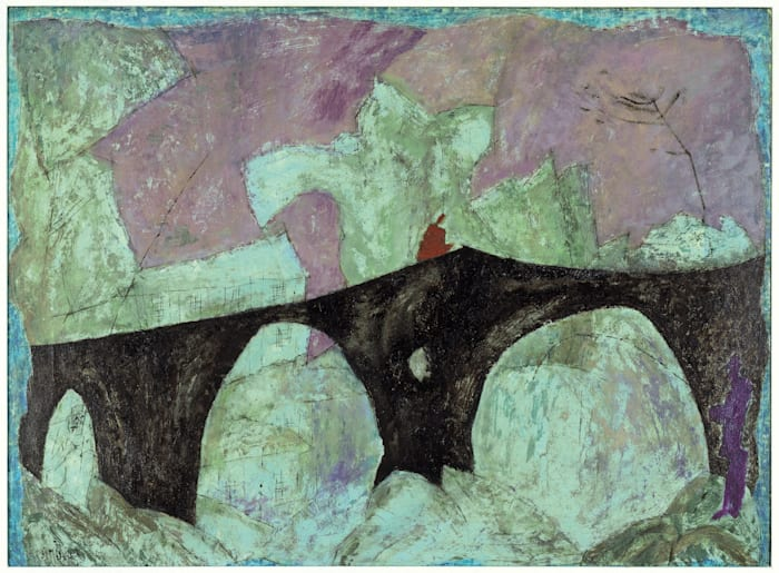 The Anglers (Black Bridge) by Lyonel Feininger