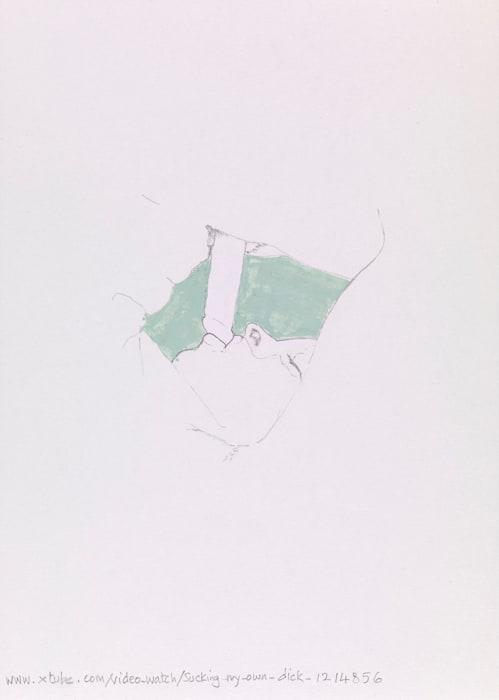 Xtube Drawing by Akram Zaatari