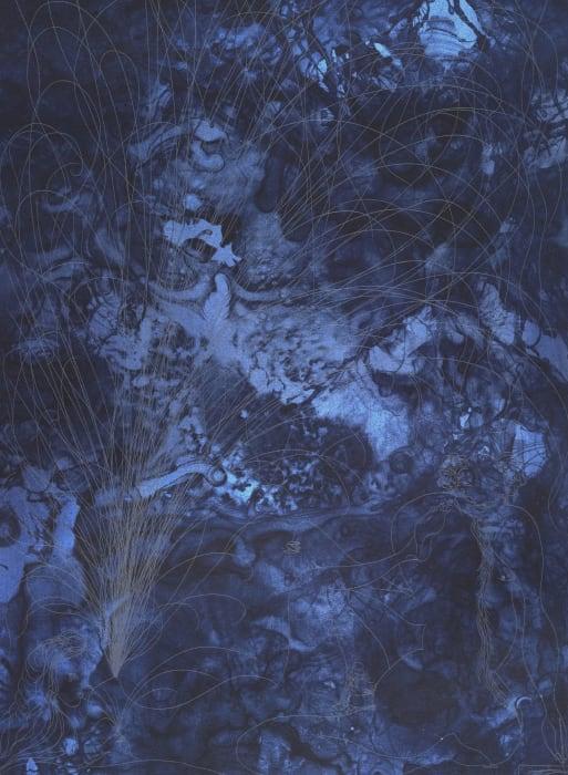 Black Shunga (detail) by Chris Ofili