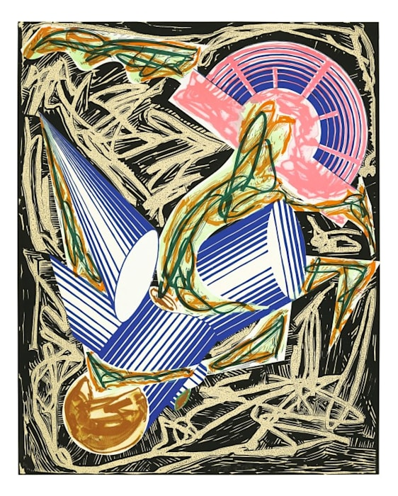 Illustrations after El Lissitzky's 'Had Gadya'. A. Had Gadya: Front cover by Frank Stella