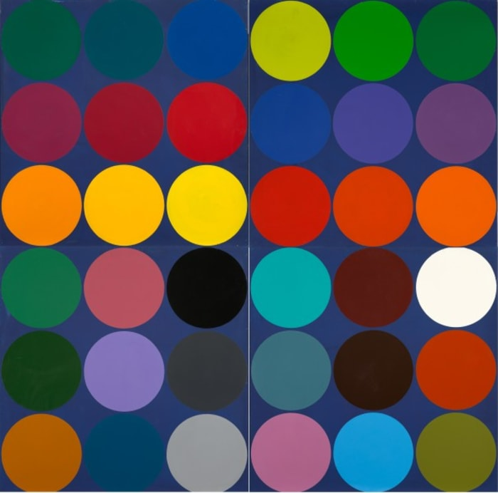 Untitled (Dot painting) by Estate of Poul Gernes