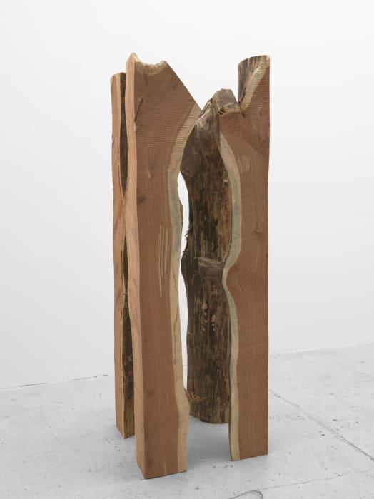 Untitled (Quartered Cedar) by Virginia Overton