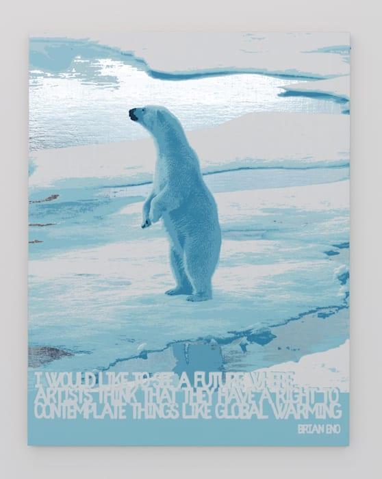 Polar Bear/Global Warming (Brian Eno) by Rob Pruitt