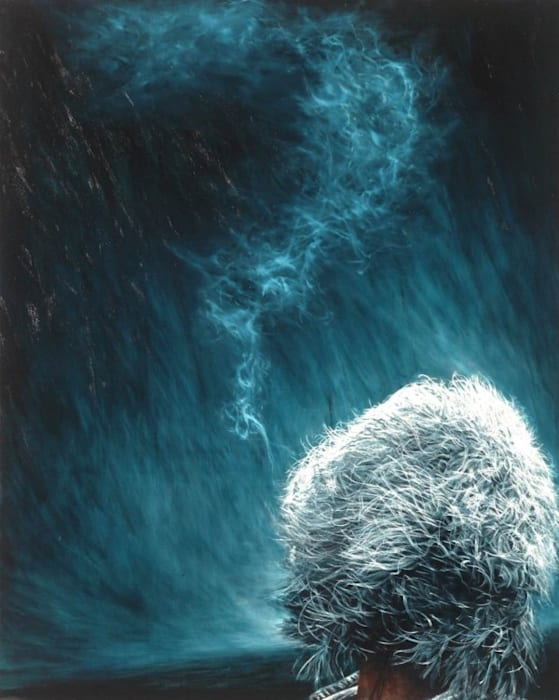 White Hair and Smoke by Sung-Hun Kong