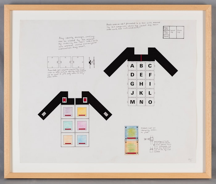 Multiple Clothing. Pilot Drawing One : Open System, Kinetic Modules by Stephen Willats