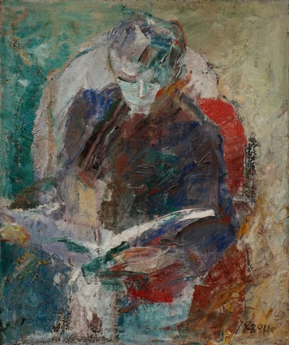 Man Reading by Huang Rui