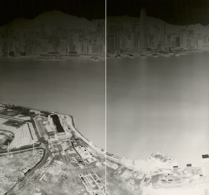 To See Hong Kong Island from Kowloon 18-21 July 2015 (diyptych) by Shi Guorui
