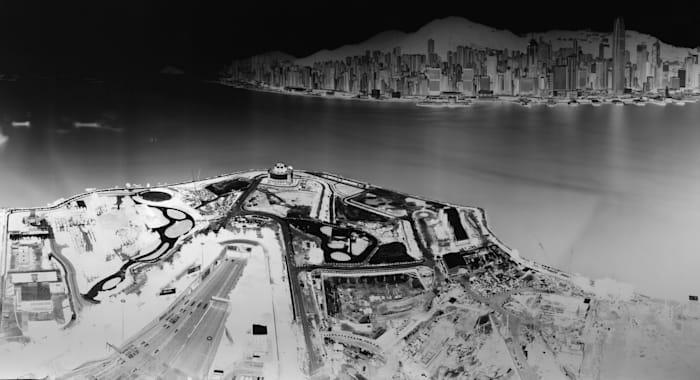 To see Hong Kong Island from Kowloon 15-16 July 2016 by Shi Guorui