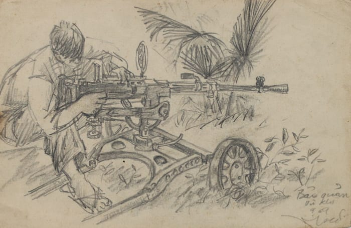 Light and Belief: Sketches of Life from the Vietnam War (detail) by Dinh Q. Lê