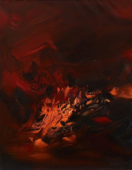 Feuille Rouge by Chu Teh-Chun