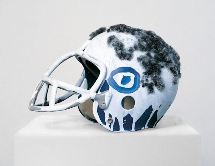 Untitled (Football Helmet) by Jean-Michel Basquiat