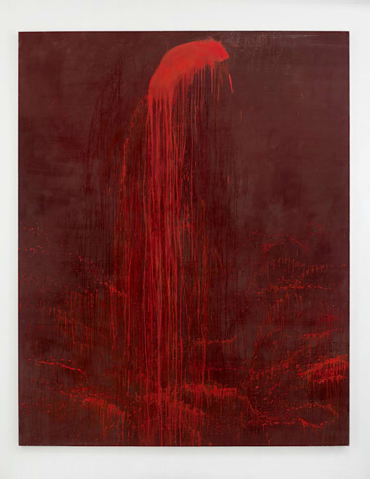 Outer Lhamo Waterfall by Pat Steir