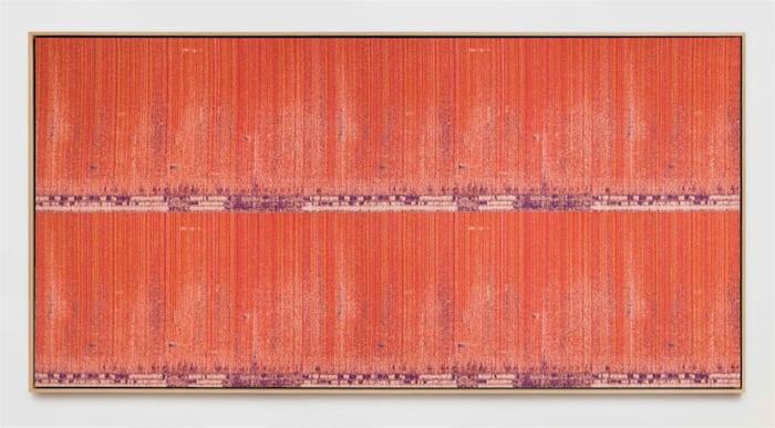 Negative Entropy (Toyota Motomachi Alarm, Orange, hex horizontal) by Mika Tajima