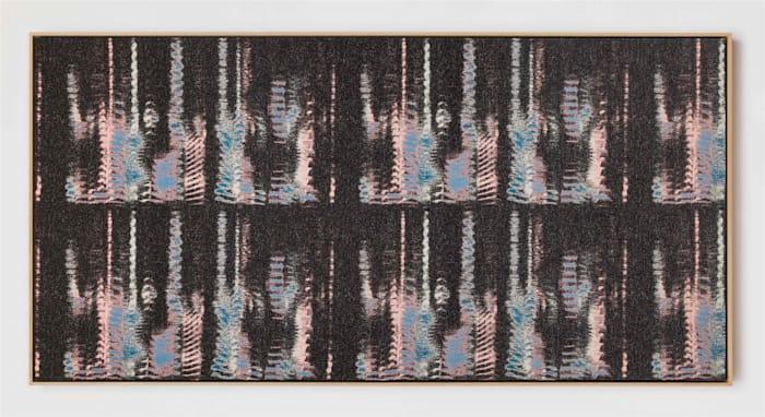 Negative Entropy (Kazue Kobata, Blue, hex horizontal) by Mika Tajima