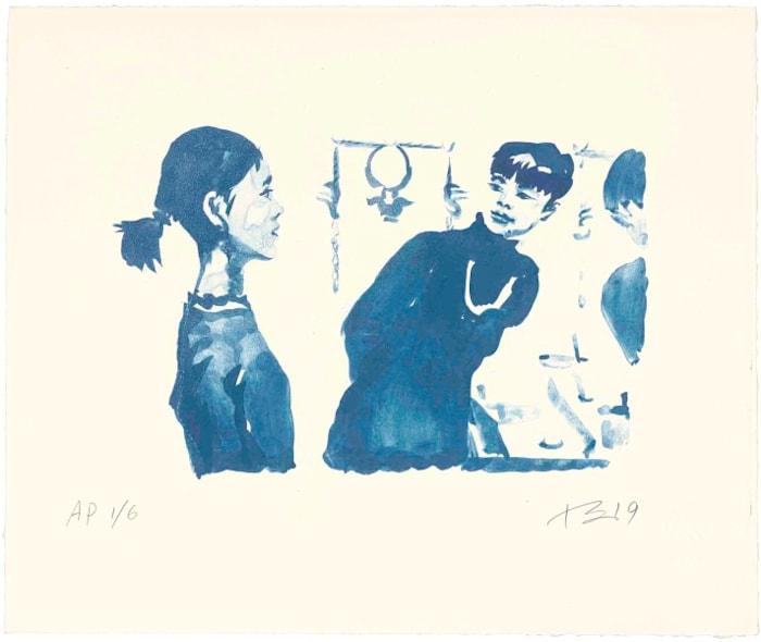 Hong Hai'er Putting in Earrings 3 by Liu Xiaodong