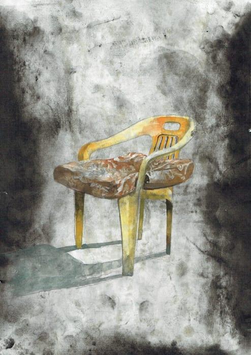 Untitled (Watercolor) Detail by Julien Segard