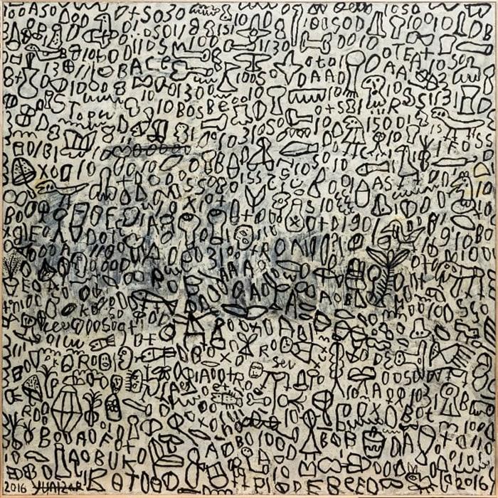 Coretan (Scribbling) by Yunizar