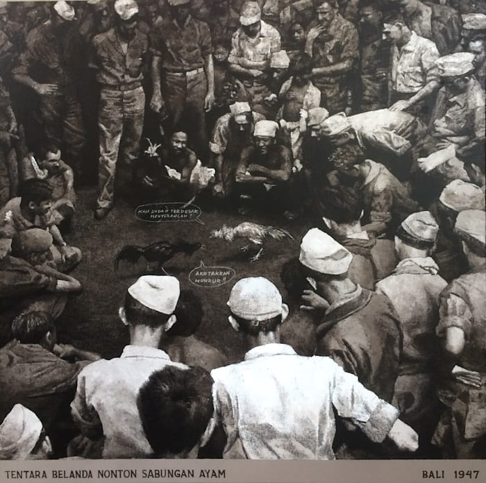 Adu Jago 1947 (Cock Fight 1947) by Mangu Putra
