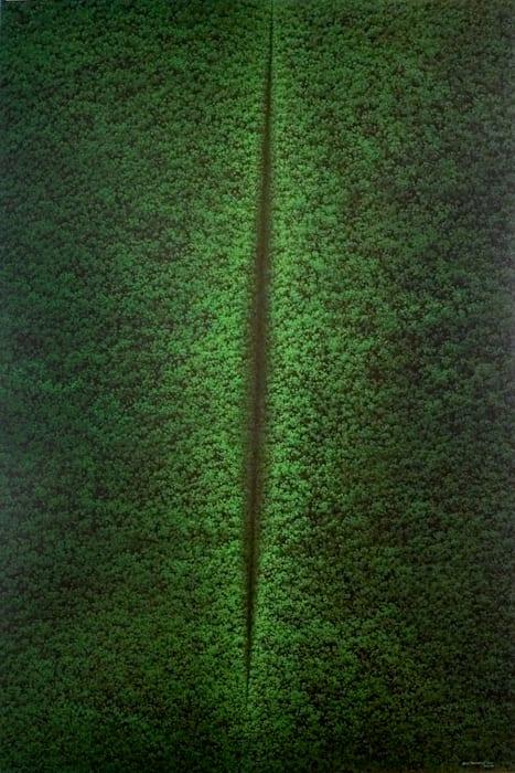 Hijau (Green) - Lucio Fontana Series No. 8 by Rudi Mantofani
