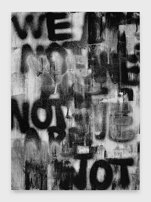 Untitled (WE ARE NOT) by Adam Pendleton