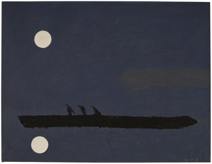 Three Black Cranes on a Raft by Yeh Shih-Chiang