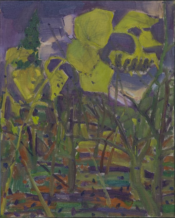 Purple Landscape with Sunflowers by Mao Xuhui