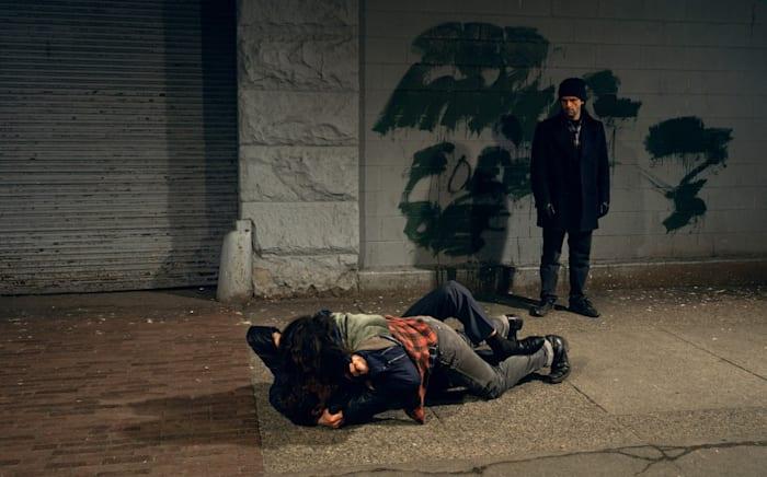 Fight On The Sidewalk by Jeff Wall