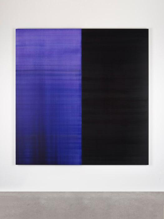 Untitled Lamp Black / Blue Violet no. II by Callum Innes