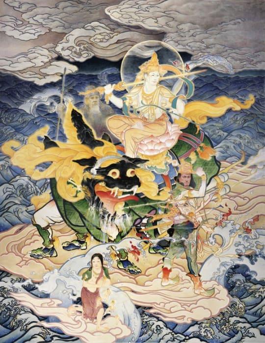 Manjushri Crossing the Sea by Akira Yamaguchi