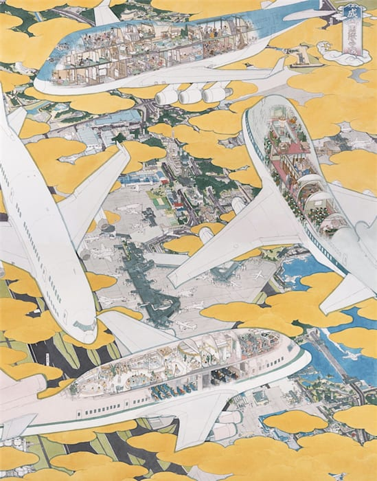 Narita International Airport: Various Curious Scenes of Airplanes by Akira Yamaguchi