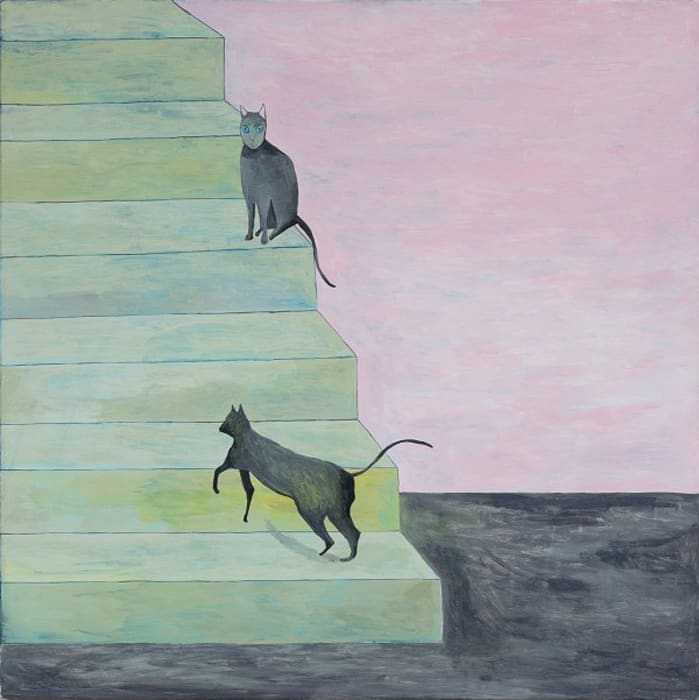 Steps with cats by Noel McKenna
