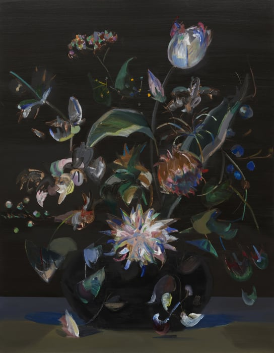 Bouquet with Chrysanthemum after Rachel Ruysch by Mairead O'hEocha
