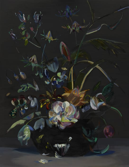 Bouquet with Rose after Rachel Ruysch by Mairead O'hEocha