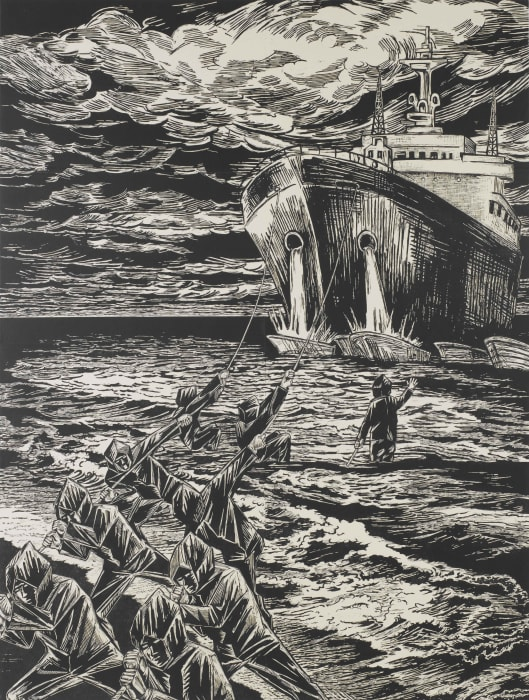 Homebound Ship (Beached Black) by Sachiko Kazama