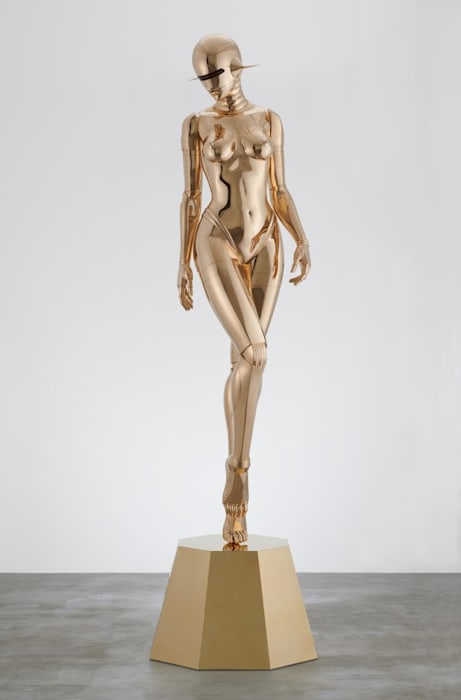 Sexy Robot_Walking_Bronze by Hajime Sorayama