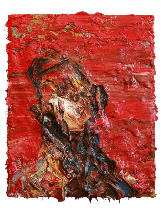 Self Portrait in Red by Antony Micallef