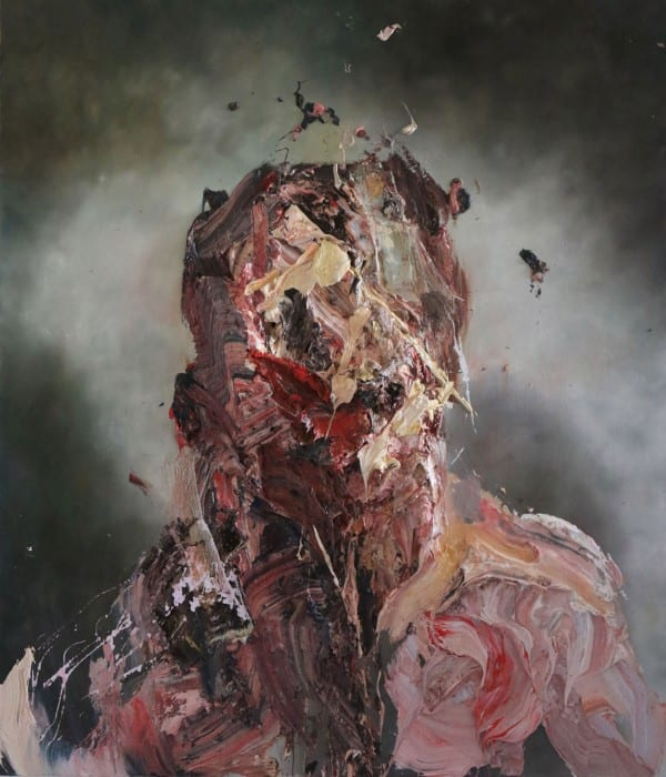 Self-Portrait with Green by Antony Micallef