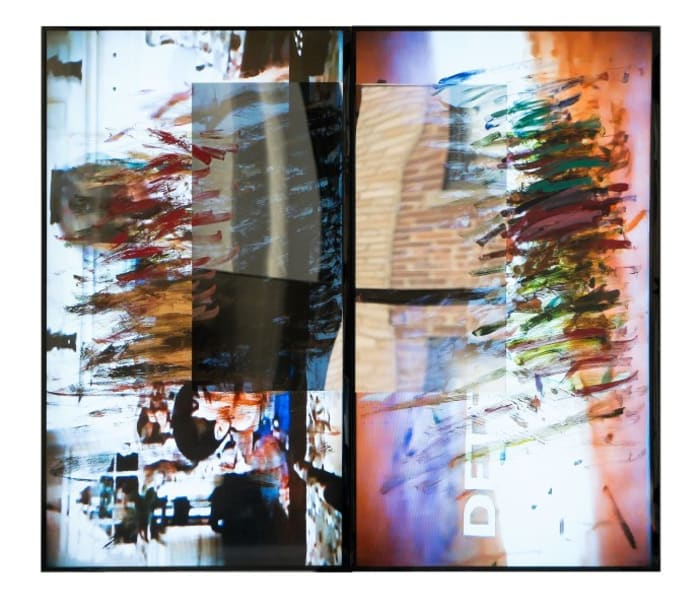 gesture/data (feedback), diptych by Ken Okiishi