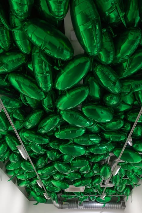 Speech Bubbles (Green) by Philippe Parreno