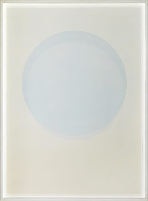 Large watercolour blue circle by Olafur Eliasson