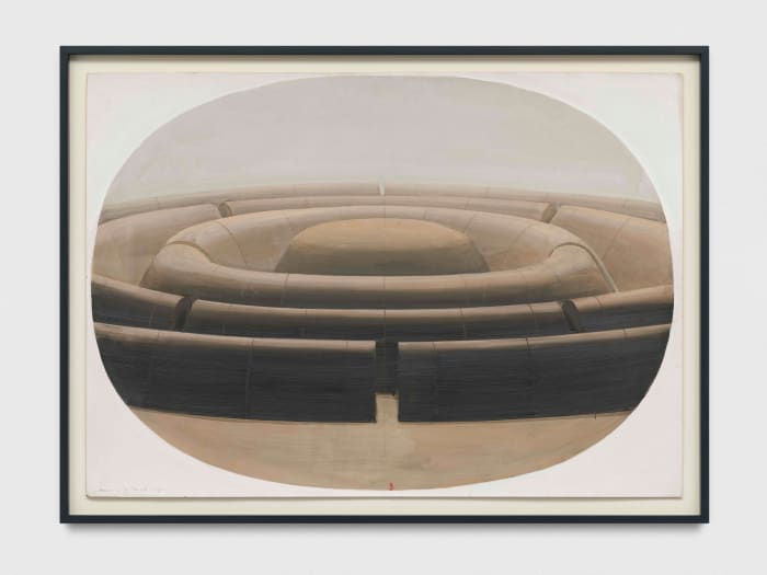 La Cite Mandala dans un ovale by Horia Damian