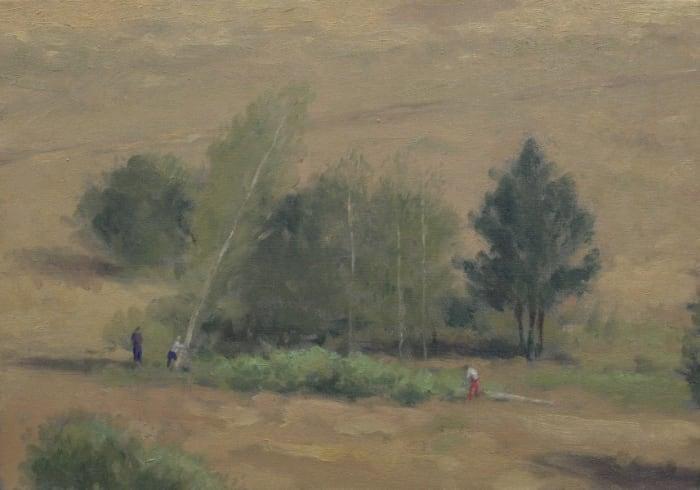 Impressionist Landscape with Thieves by Serban Savu